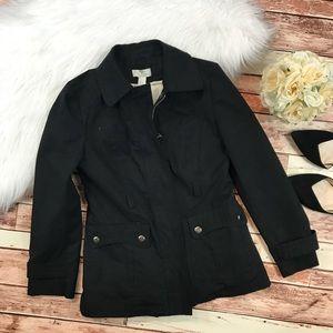 Loft black utility jacket